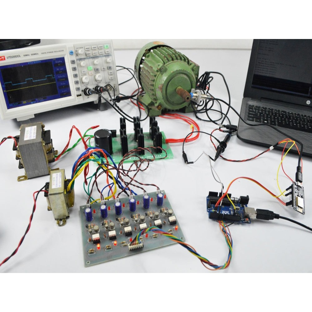 Prototype model for three phase induction motor speed control and monitoring