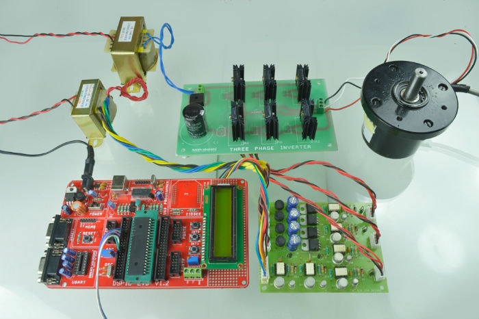 Prototype Model for speed control of BLDC motor by using DSPIC controller